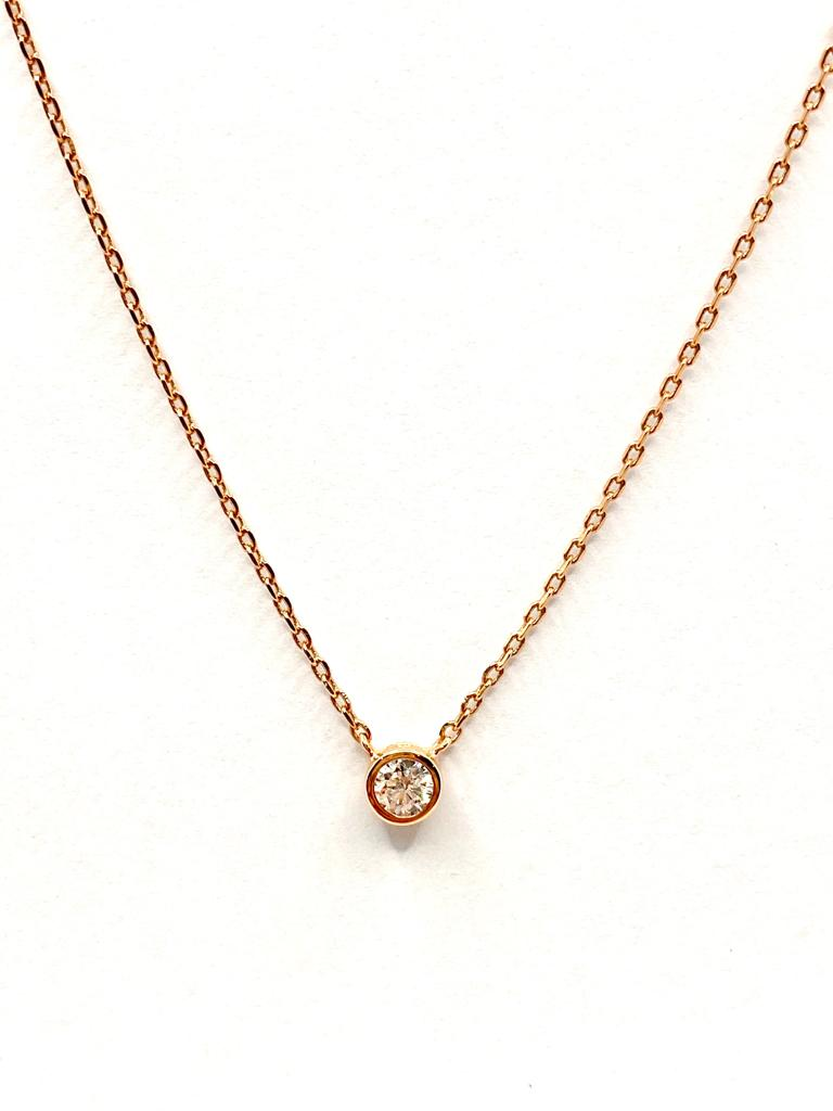 collier or rose 0,15 carat