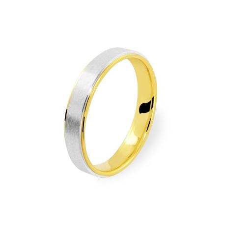 alliance bicolore 4 en or jaune et or blanc