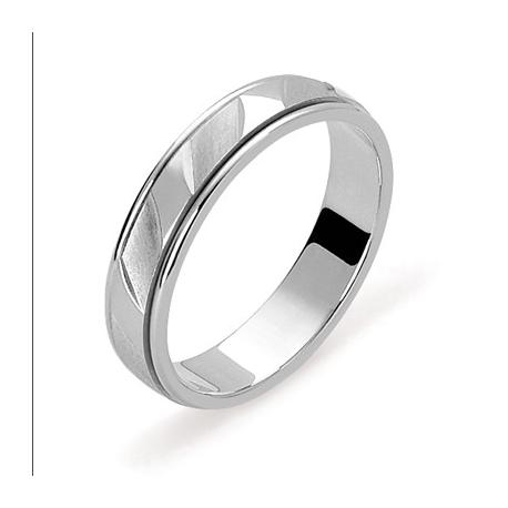 alliance en or blanc 45 anneau central encastré