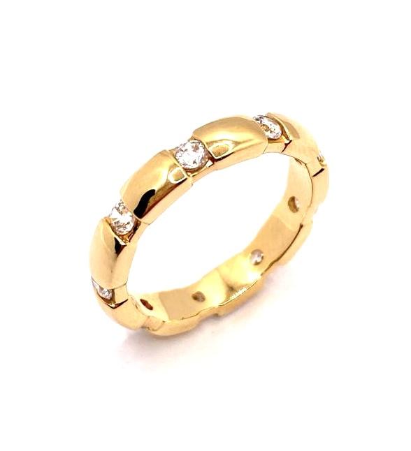 alliance or jaune diamants