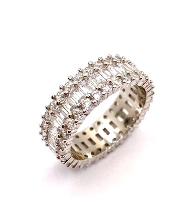 alliance tour complet diamants or blanc